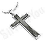 """Pandantive crucifix - Cruce inox rugaciune """"Tatal Nostru"""" - PF1102"""