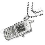 Bijuterii Inox - Pandantiv ceas tip mobil cu lantisor - BF1504