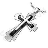 Pandantive crucifix - Pandantiv inox cruce - PF1116