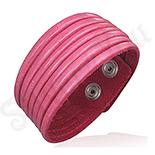 BRATARI PIELE - De SEZON! - Bratara piele dama culoare roz - BF6140