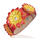 BRATARI PIELE - De SEZON! - Bratara piele model floral - BF6108
