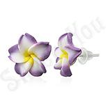 CERCEI - Cercei floare plumeria - BF6213