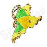 BROSE ARGINT - Brosa fashion fluture verde - BF6032