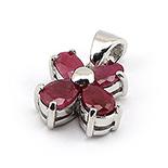 Bijuterii argint de mireasa - Pandantiv argint cu rubin - BF5019