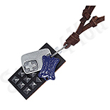 Pandantive crucifix - Colier piele maro fantezie modern - PK1581
