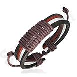 BRATARI - Bratara piele negru rosu alb - PK1695