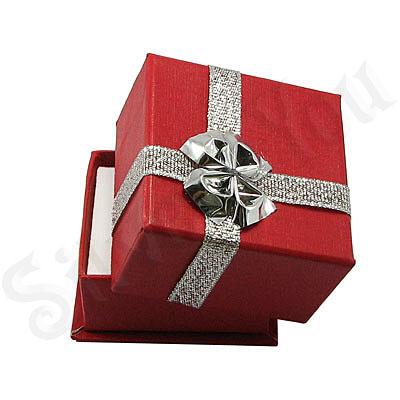 Cutii Bijuterii - Cutie cartonata rosie inel - BG6026