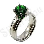 - Inel inox cu zircon verde - BR6141