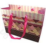 Cutii Bijuterii - Punga cadou nuante roz si mov - BG6036