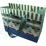 Cutii Bijuterii - Punga cadou nuante verde si albastru - BG6035