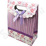 Cutii Bijuterii - Punga cadou cu floricele - BG6033