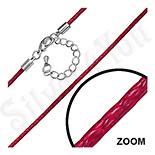 Bijuterii Inox - Lant fashion siret rosu impletit - PK2098