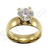 Cadouri Femei 1-8 Martie - Inel de logodna cu zircon alb - BR6028