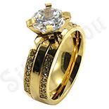 Inele De Logodna - Inel de logodna din inox aurit - BestSeller - BR6356