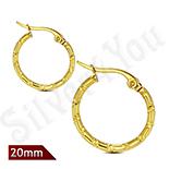 Cercei inox model rotund in culoarea aurului/2 cm - LR5076