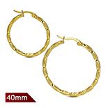 REDUCERI - Cercei inox model rasucit in culoarea aurului/3.5cm - LR5071
