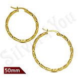 Cercei inox model rasucit in culoarea aurului/5 cm - LR5072