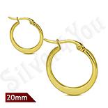 Cercei inox in culoarea aurului - LR5070