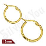 Bijuterii Inox - Cercei inox model rotund in culoarea aurului - LR5074