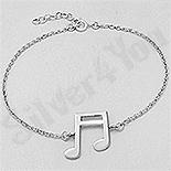 BRATARI - Bratara argint cu nota muzicala - AS148