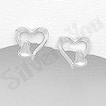 Cadouri Femei 1-8 Martie - Cercei argint inimioare mici - AS151