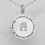 - Pandantiv argint banut casuta cu mesaj - AS165