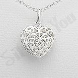 Cadouri Femei 1-8 Martie - Pandantiv argint casetuta inima - AS166