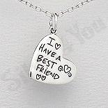 Cadouri Femei 1-8 Martie - Pandantiv argint inima cu mesaj - AS163