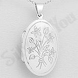 - Pandantiv argint casetuta ovala - AS175