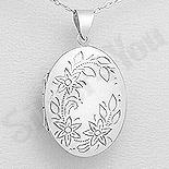 Martisoare Argint - Pandantiv argint casetuta ovala - AS176