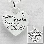 Martisoare Argint - Pandantiv argint inima cu mesaj - AS178