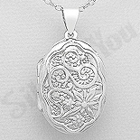 - Pandantiv argint casetuta ovala - AS180