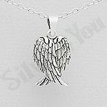Martisoare Argint - Pandantiv argint patinat  aripi de inger - AS182