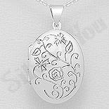 Bijuterii cu Mesaj - Pandantiv argint casetuta ovala - AS184