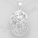 PANDANTIVE - Pandantiv argint casetuta ovala - AS184