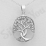 """Bijuterii cu Mesaj - Pandantiv argint  oval """"copacul vietii"""" - AS185"""