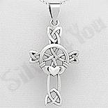 Bijuterii cu Mesaj - Pandantiv argint  cruce celtica - AS192
