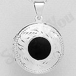 Bijuterii cu Mesaj - Pandantiv argint casetuta cu onix - AS210