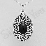- Pandantiv argint casetuta ovala cu onix - AS211