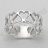 - Inel argint inimioare - AR201