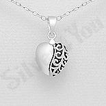 Cadouri Femei 1-8 Martie - Pandantiv argint inima cu mesaj - AR186
