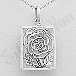 PANDANTIVE - Pandantiv argint casetuta floare - AR202