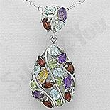 - Pandantiv argint cu pietre semipretioase colorate - AR205