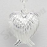 Bijuterii Argint - Pandantiv argint inimioara cu aripi casetuta - AR322