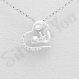 - Pandantiv argint mama si copilul intr-o inima - AR158