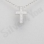 PANDANTIVE - Pandantiv argint cruce cu zirconii albe - AR147