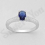 INELE - Inel argint  cu zirconii albe si albastre - AR141