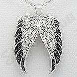 Bijuterii Argint - Pandantiv argint aripi inger cu zirconii - AR105
