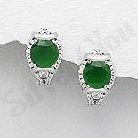 - Cercei argint cu zirconiu verde - AR119