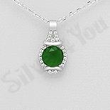 PANDANTIVE - Pandantiv argint cu zirconiu verde deschis - AR121